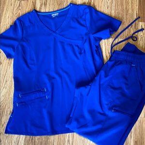 Royal blue scrub set